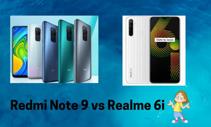 Redmi Note 9 vs Realme 6i
