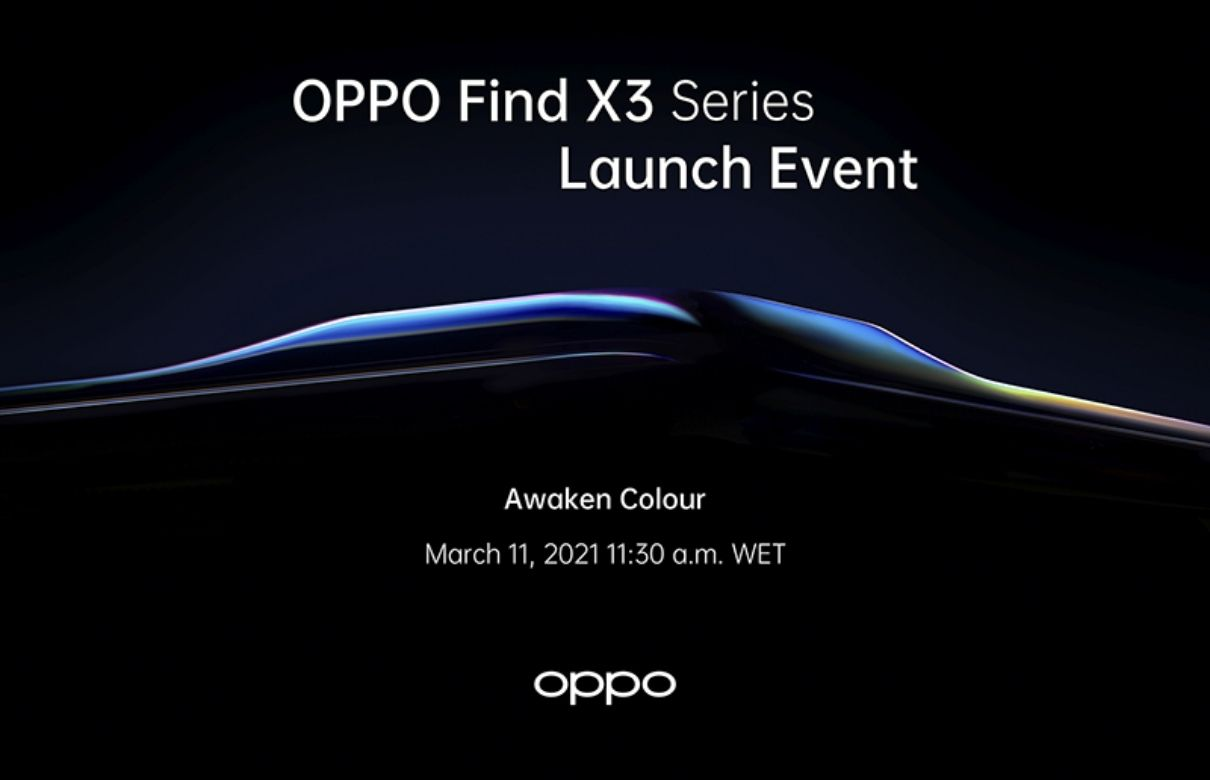 oppo find x3 pro official launch banner