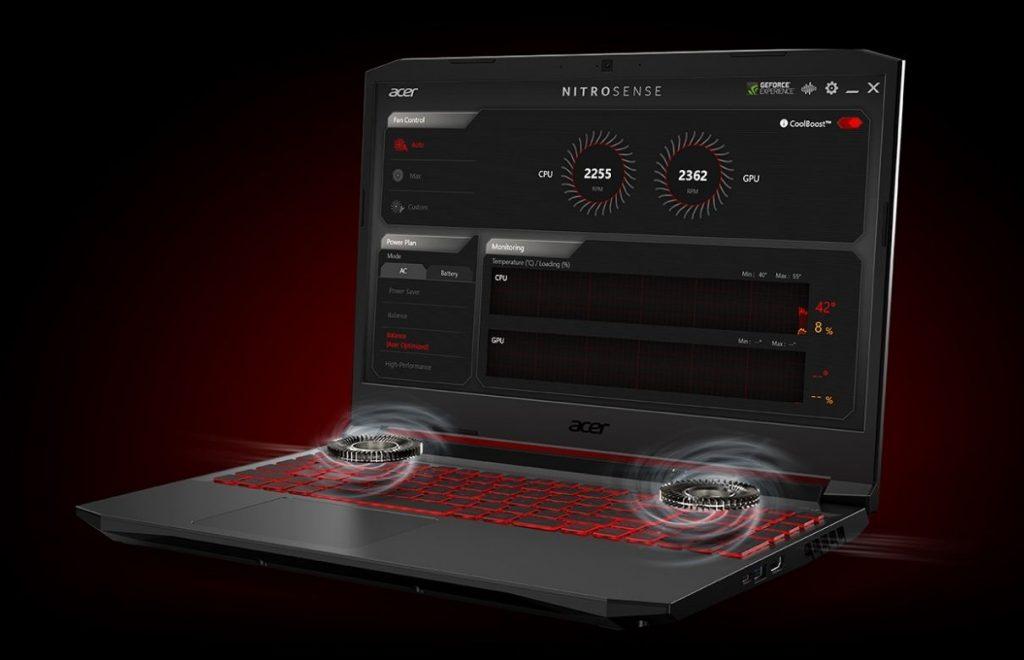 Nitro Sense Software running in Acer Nitro 5 2020 i7 10th generation