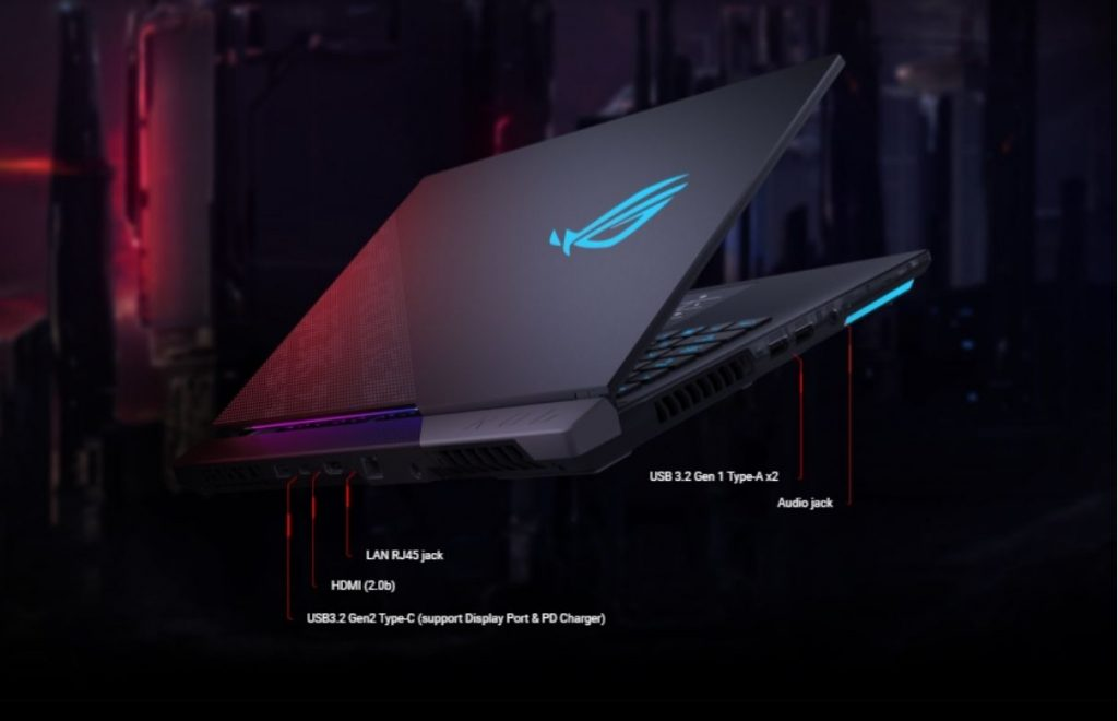 Asus rog strix scar 15 2021 ports and connectivity