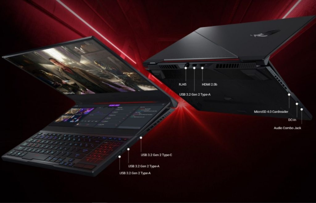 ROG zephyrus Duo 15 se connections and ports