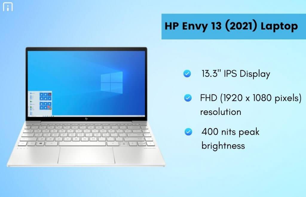 HP Envy 13 (2021) Laptop Display