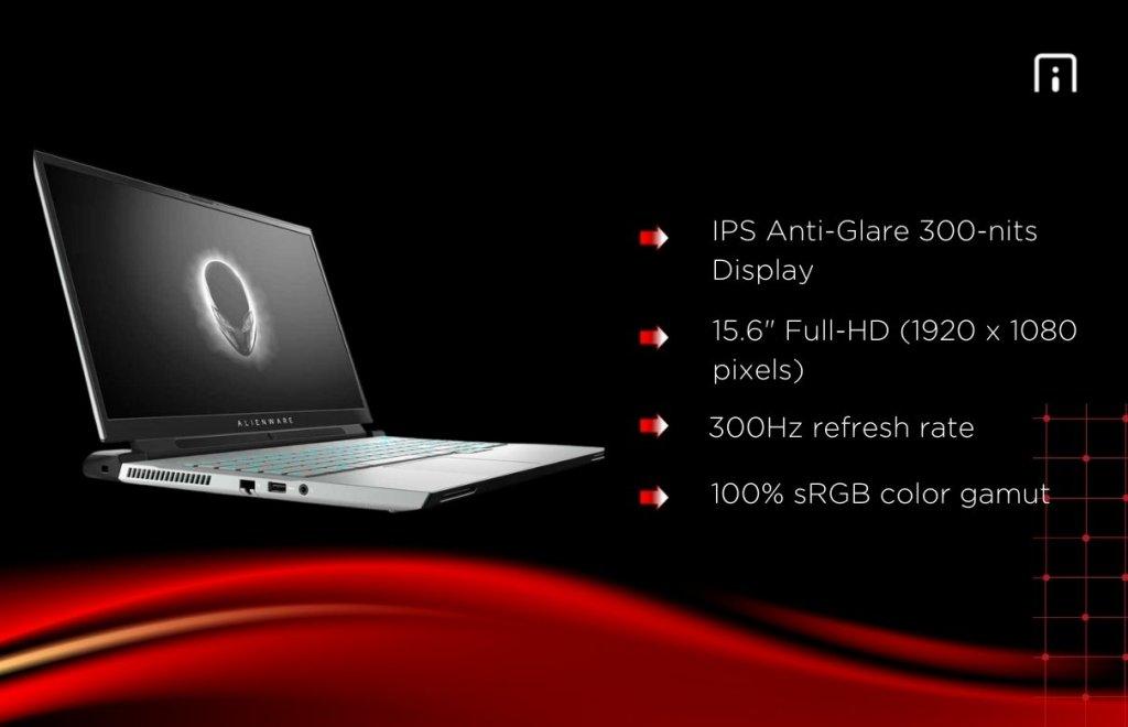 Dell Alienware M15 R3 display
