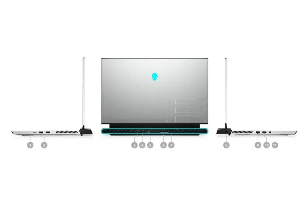 Dell Alienware M15 R3 port, usb